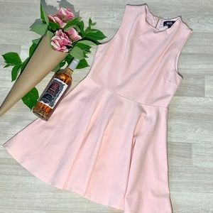 Lulu's baby pink fit and flare dress